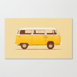 Van - Yellow Canvas Print