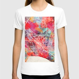 Lehi map Utah UT T-shirt