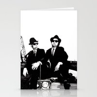 blues brothers Stationery Cards featuring Blues Brothers by DmDan