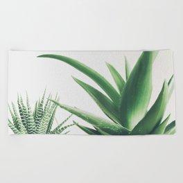 Succulents Beach Towel
