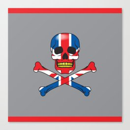 Skull UK Canvas Print