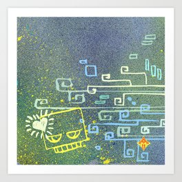 Blockhead Love Art Print