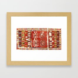 Hotamis  Antique Turkish Karapinar  Kilim Print Framed Art Print