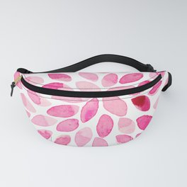 Watercolor brush strokes - pink Fanny Pack