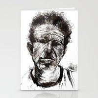 tom waits Stationery Cards featuring Tom Waits Bad As Me  by b_ethany