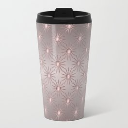 Elegant Star Pattern Rose Quartz Travel Mug