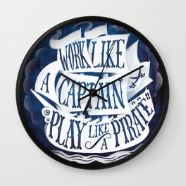 like a pirate Wall Clock