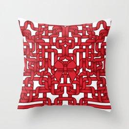 Little Red Ribbon Throw Pillow