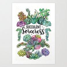 Succulent Sorceress Art Print