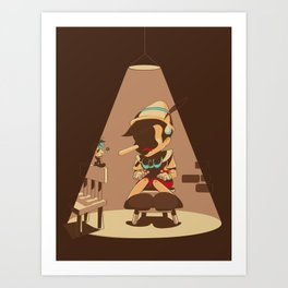 Nosey Interrogation Art Print
