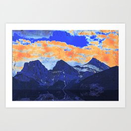 Faith - Hope - Charity - The Three Sisters Mountains, Canmore, AB, Canada Art Print