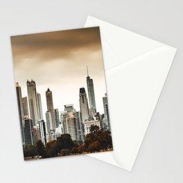 chicago skyline at dusk Stationery Cards