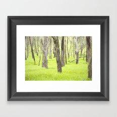 Neon Green  Framed Art Print