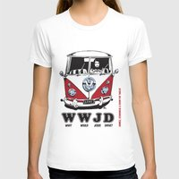 volkswagon T-shirts featuring WWJD ?   What  Would Jesus Drive ? by BulldawgDUDE
