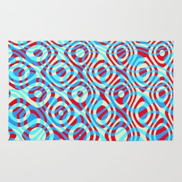 Mixed Polyps Red Blue - Coral Reef Series 035 Rug