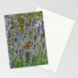 Lavender and Orange Butterfly Stationery Cards