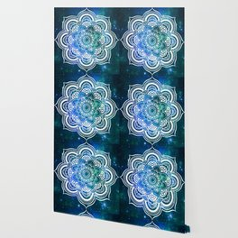 Mandala : Blue Green Galaxy Wallpaper