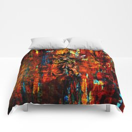 Majora Mask Abstract Comforters