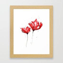 Poppy blooming 3 Framed Art Print