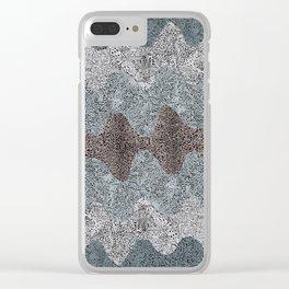 Under the Influence (Marimekko Curves) Hi Contrast Clear iPhone Case