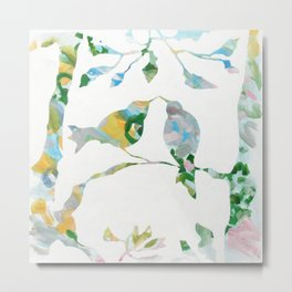 Bird onTree Happy Day Metal Print