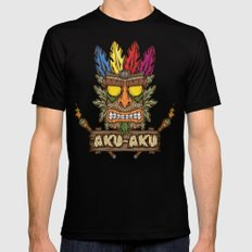 Aku-Aku (Crash Bandicoot) LARGE Black Mens Fitted Tee