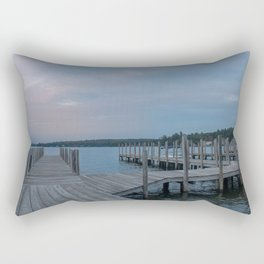 Weirs Beach Docks Rectangular Pillow