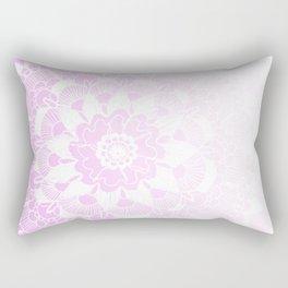 Bohemian Chic and Pretty in Pink Mandala Rectangular Pillow