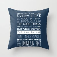 doctor who Throw Pillows featuring Doctor Who by Sarah Jane Rozman