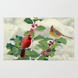 Cardinals on Tree Top Rug