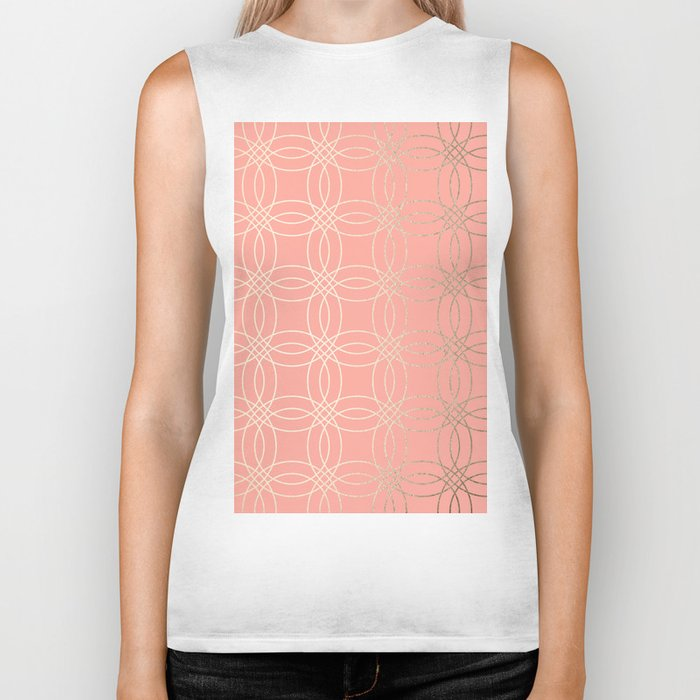 Simply Vintage Link in White Gold Sands and Salmon Pink Biker Tank