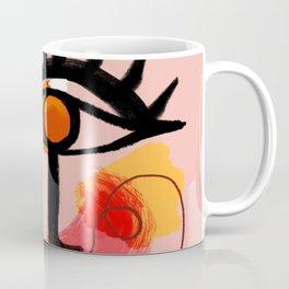 Face Blush Pink Abstract Coffee Mug