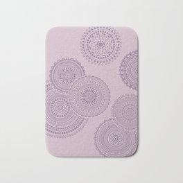 Randomly placed mandala pattern in lilac. Bath Mat