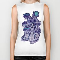 school Biker Tanks featuring Art School by littleclyde
