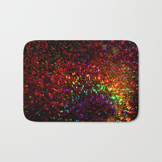 Fascination in gold-photograph of colorful lights Bath Mat