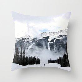 Montain Trek Throw Pillow