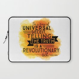 Revolutionary Act - quote design Laptop Sleeve