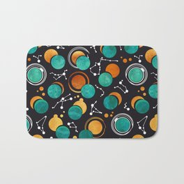 Great Total Solar Eclipse II // turquoise green moons Bath Mat