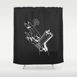 Kill ´em (black) Shower Curtain