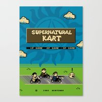 mario kart Canvas Prints featuring Supernatural Kart by Byway