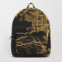 MEDELLIN COLOMBIA GOLD ON BLACK CITY MAP Backpack
