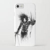edward scissorhands iPhone & iPod Cases featuring Edward Scissorhands by Karbon-K
