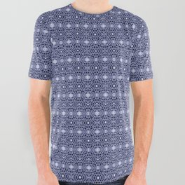 blue dandy chinoisse All Over Graphic Tee