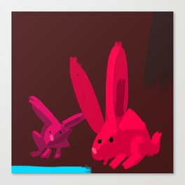 Red Rabbits Canvas Print