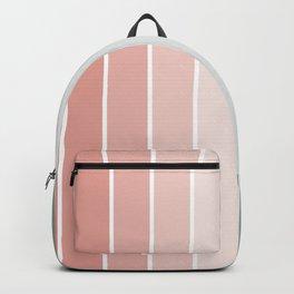 Line Art Pastel Orange to Green (Diagonal) Backpack