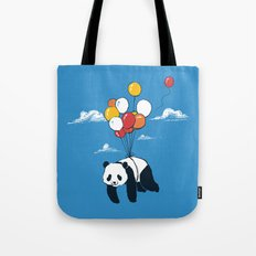 Flying Panda Tote Bag