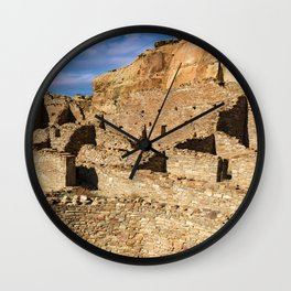 Pueblo Bonito in Chaco Canyon Wall Clock