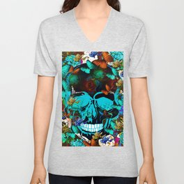 SUGAR SKULL AND HAPPINESS Unisex V-Neck
