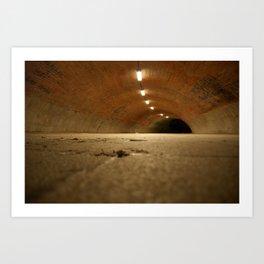 No Light, No Train - Tunnel It Is! Art Print