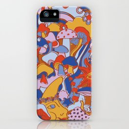 Magical Mushroom World in Mod Rust iPhone Case